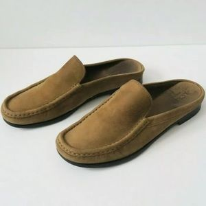 J. Crew Suede Mocassin Mules Slip On Loafers Italy